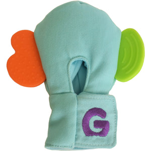 Gummee mouthing gloves for additional / special needs for any child that bites their hands rear view