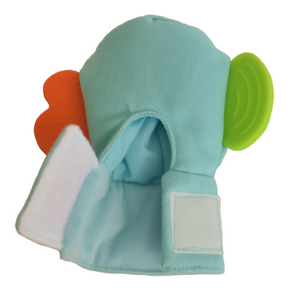 Gummee mouthing gloves for additional / special needs for any child that bites their hands strong hook and loop closure
