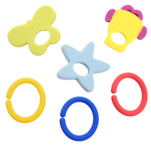 Load image into Gallery viewer, teething ring set with silicone teether links baby teething