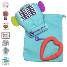 Load image into Gallery viewer, gummee glove teething mitten for babies teething ring set with silicone baby teether