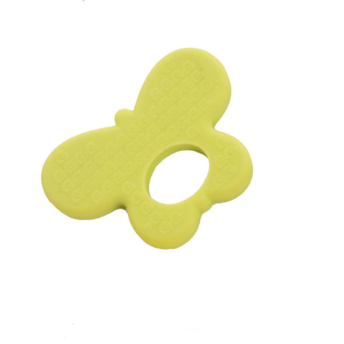 silicone butterfly shaped teether 100% food grade silicone