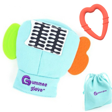 Load image into Gallery viewer, gummee glove teething mitten for toddlers teether chew mitt with detachable teething ring and laundry bag