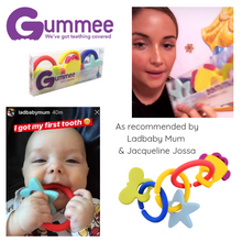 Load image into Gallery viewer, jacqueline jossa with teething ring set with silicone teether links baby teething