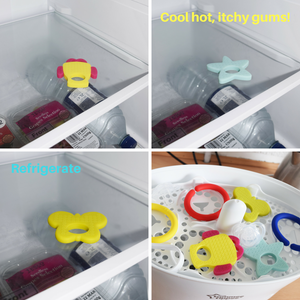 cold teething refrigerated silicone teethers