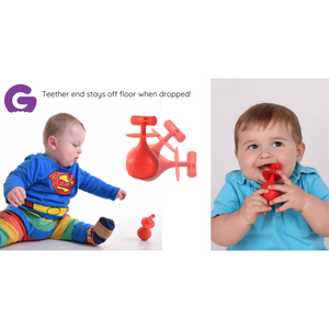 molar teether back teeth teething toy hygienically designed with wobble base
