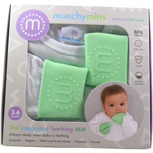 teething mitten babygro in packaging