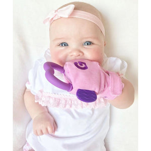 gummee glove teething mitten for babies teething ring set with silicone teether