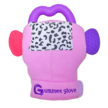 Load image into Gallery viewer, gummee glove teething mitten for babies teething ring set with silicone baby teether perfect for baby shower gift