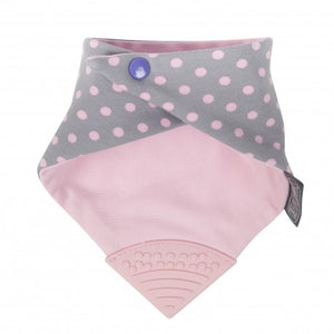 baby teething Polka dot pink back
