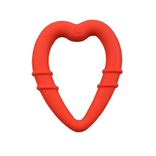 Load image into Gallery viewer, detachable silicone heart teething ring for young teethers pain relief for teethers orange