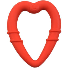 Load image into Gallery viewer, detachable silicone heart teething ring for young teethers pain relief for teethers