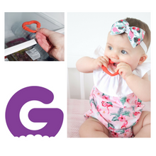 Load image into Gallery viewer, silicone heart teething ring for young teethers