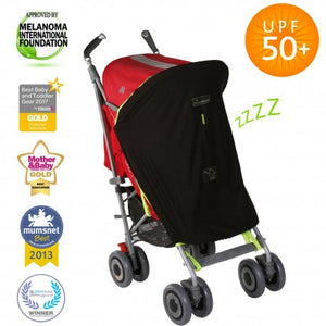snooze shade push chair cover to protect from the sun