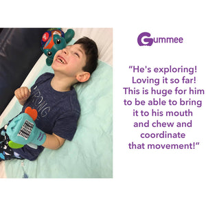 Gummee mouthing gloves for additional / special needs for any child that bites their hands testimonial