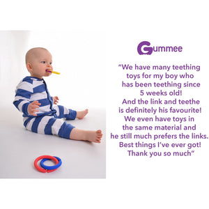 teething toy with silicone teether links baby teething guide