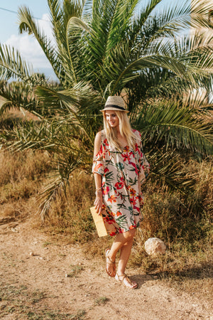 resort wear cruise wear beach wear floral cover up resort dress