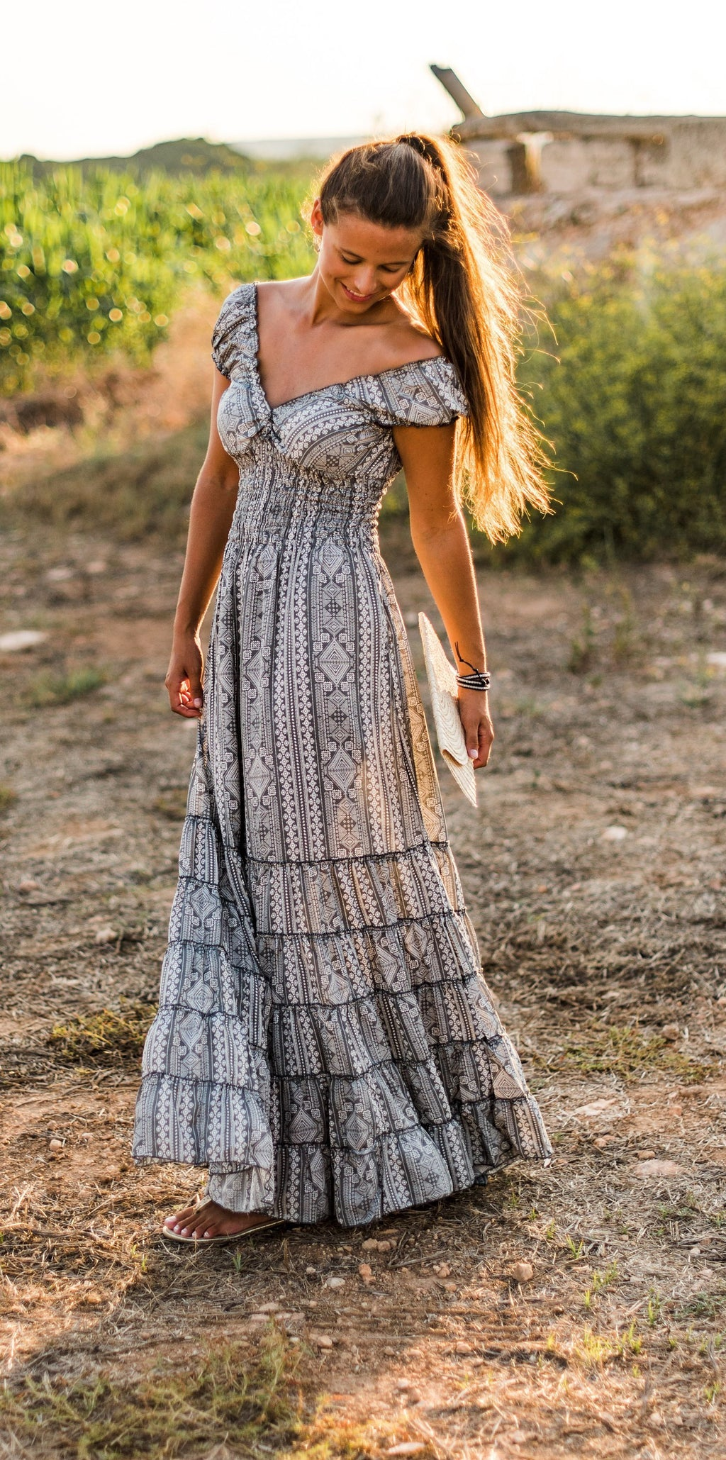 boho silk dress resort wear cruise dress tribal silk dress tribal bohemian ruffle dress boho ruffle dress