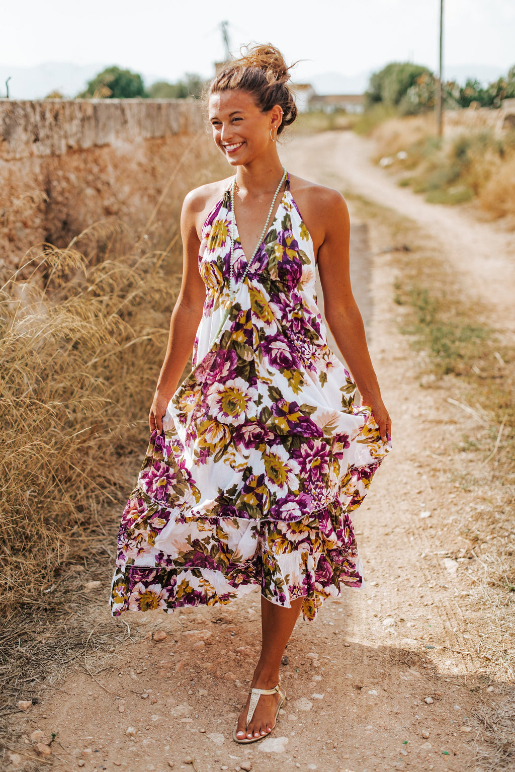 floral boho resort dress cruise dress resort wear cruise wear