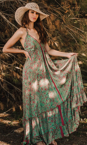 Boho Maxi Summer Silk Dress, IBIZA DRESS