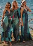 Turquoise Blue Boho Maxi Summer Dress, IBIZA DRESS