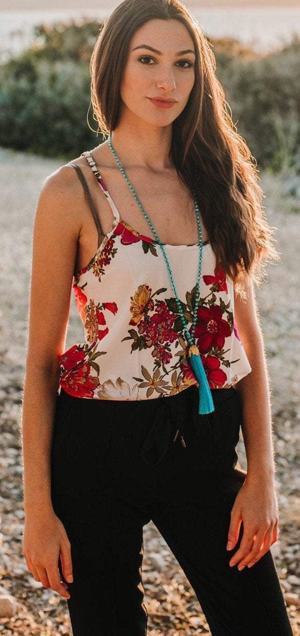 floral boho top resort wear summer top cruise wear vacation top