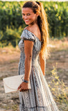 Boho Silky Long Maxi Summer Dress, CAPRI DRESS