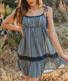 Black Short Summer Dress, SICILIA DRESS