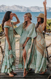 Sea Green Boho Maxi Summer Dress, IBIZA DRESS
