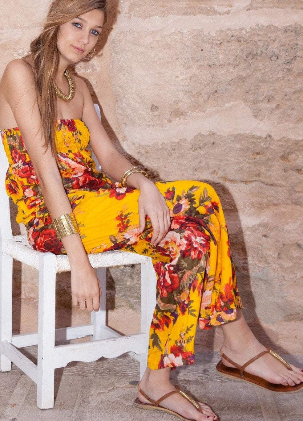 floral jumpsuit cruise wear resort wear