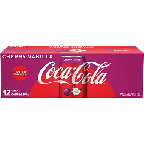 Vanilla Cherry Coke Case (12 Cans)