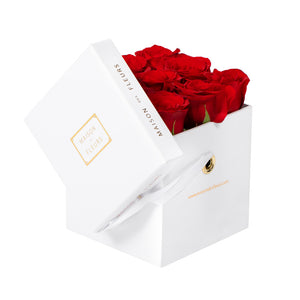 Roses in Small Square Box