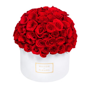 Red Roses Full Dome in Signature MDF Round Box