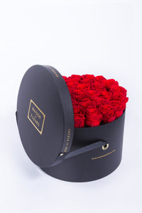 Preserved Roses in Signature MDF Round Box