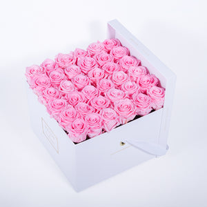 Preserved Roses in Signature MDF Square Box