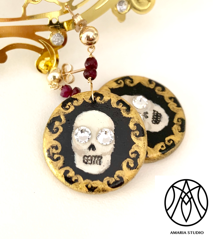 Filigree Skull earrings - Amaria Studio