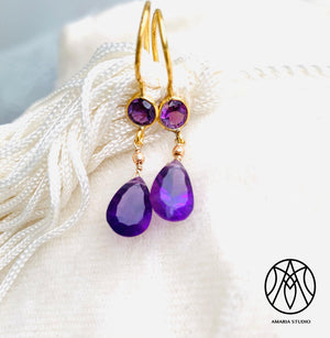 Amethyst Earrings - Amaria Studio