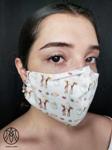 Beach girl face mask - Amaria Studio