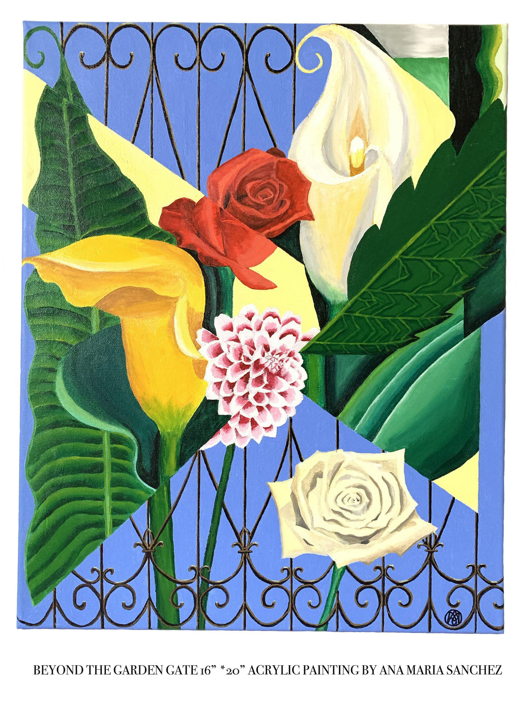 Beyond The Garden Gate Painting - Amaria Studio
