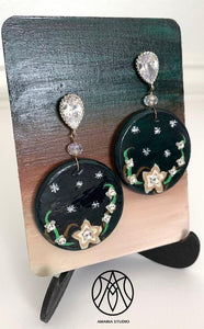 Jasmine and Stars Earrings - Amaria Studio