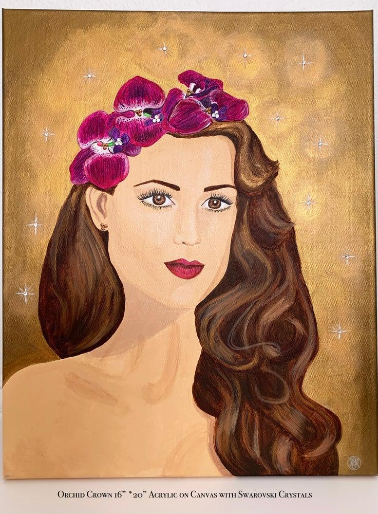 Orchid and Stars Painting - Amaria Studio
