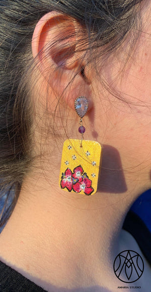 Orchid and Stars Earrings - Amaria Studio