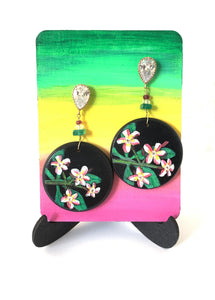 Plumeria Earrings - Amaria Studio