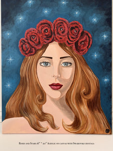 Roses and Stars Painting - Amaria Studio