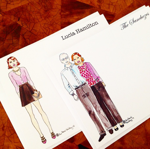 CUSTOM PORTRAIT FASHION ILLUSTRATION NOTECARDS - Amaria Studio