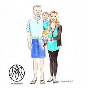 Custom fashion illustration - Amaria Studio