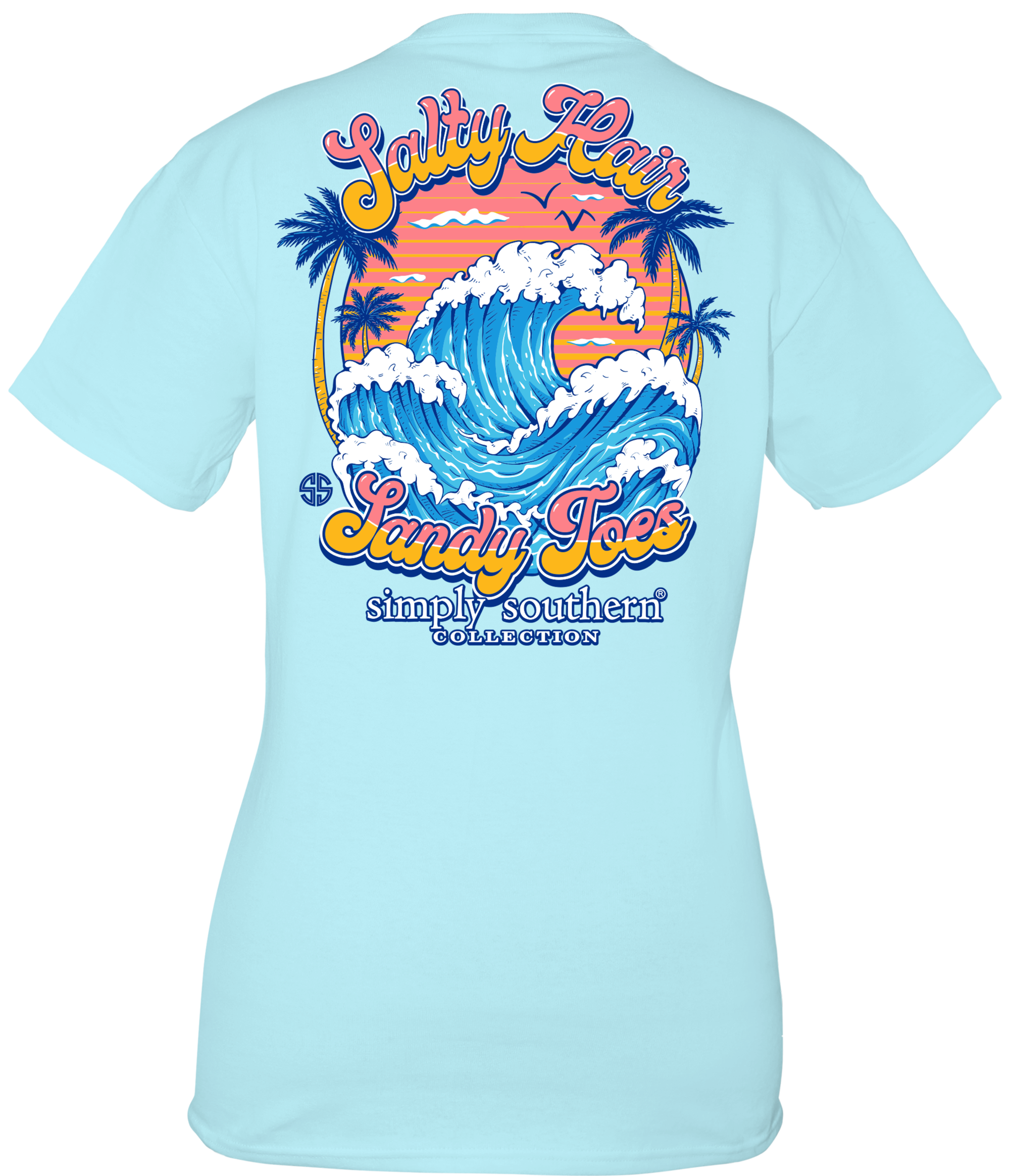 SIMPLY SOUTHERN PREPPY SALTY HAIR BEACH T-SHIRT