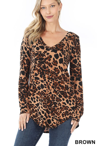 Running Late Leopard Top