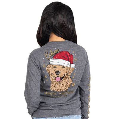 Simply Southern Santa Dog Long Sleeve Tee