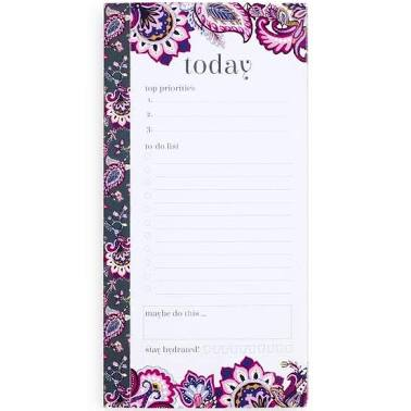 Daily Planner List Pad Felicity Paisley