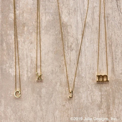 Julio Designs Gold Initial Necklace